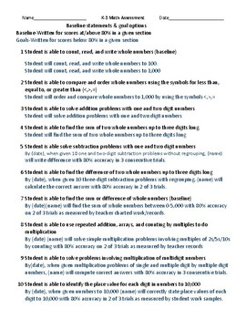 K-3 Math assessment