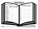 K-3 Reading Log (English/Spanish)