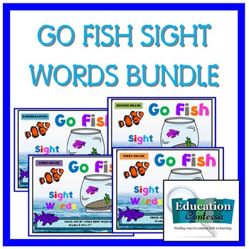 K - 3 SIGHT WORD BINGO BUNDLE (4 levels for one great price)
