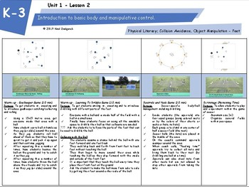 K-3 SIX Lesson Pack Soccer Development
