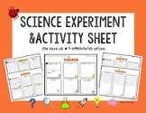 K-3 Science Observations/Activity Recording Sheet (Differe