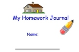K-3 Special Education Homework Journal