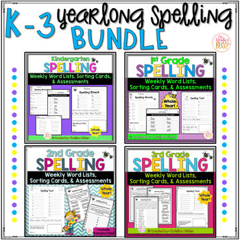 K-3 Spelling Year Long BUNDLES
