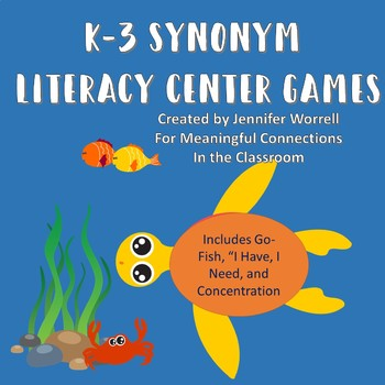 K-3 Synonym Literacy Center Games