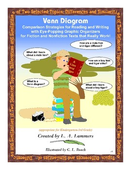 K-3 Venn Diagram Comparison Strategies for Reading and Writing Instruction