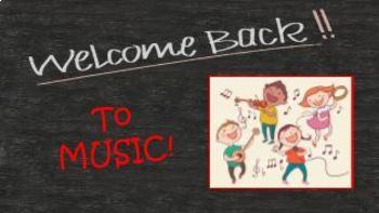 "K-3 ""Welcome Back to Music""  FREEBIE"