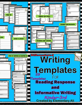 K-3 Writing Templates: Reading Response and Informative Writing (Any Subject)