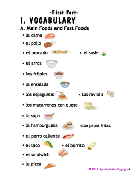 K - 3RD - LESSON 6 - FOODS