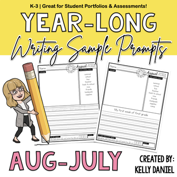 K-3rd MONTHLY Writing Prompts & Templates