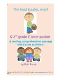 K-3rd grade Easter reading comprehension and activities packet