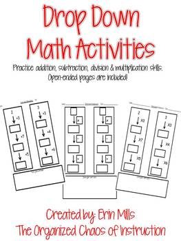 K-4: Drop Down Mathematics-Add, Subtract, Multiply & Divide!