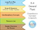 K-4 General Music:  Comprehensive Curriculum Components