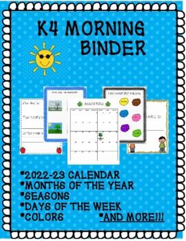 K-4 MORNING BINDER