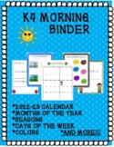 K-4 MORNING BINDER