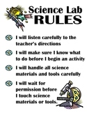 K-4 Science Lab Signs and Rules