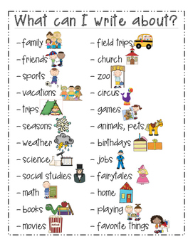 K-4 Writing Journal Prompts For the Entire Year with Cover and Charts