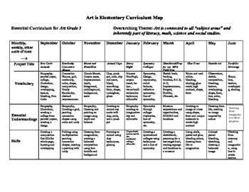 K-5 Art Curriculum Map