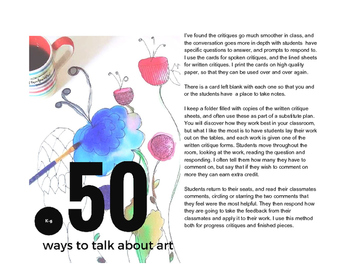 K-5 Art and Art History Discussion Cards