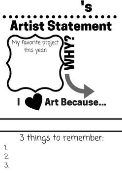 K-5 Artist Statement