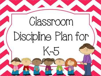 K-5 Classroom Discipline Plan - Chevron Inspired!