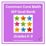 K -5 Common Core Math IEP Goal Bank