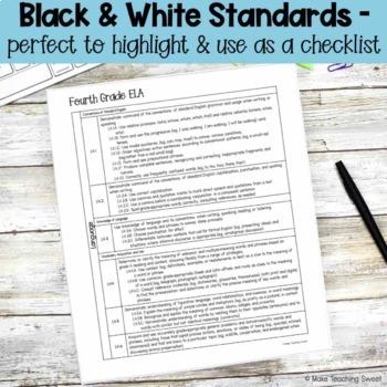 K-5 Common Core Standards List BUNDLE!
