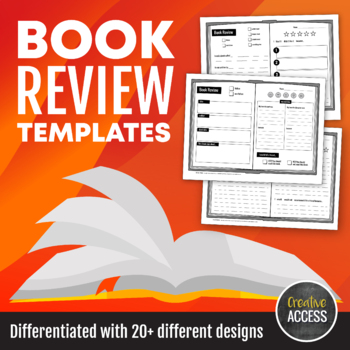 Book Review Templates for K-5+ [Differentiated with over 20 different designs!]