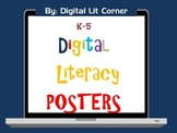 K-5 Digital Literacy (Citizenship) Posters by Digital Lit Corner