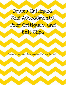 K-5 Drama Critiques and Printables