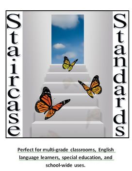 "RL Key Ideas and Details I Can & IEP Goals/Learning Targets ""Staircase"""