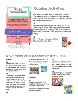 K-5 Family Literacy Newsletter