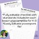 K-5 Guided Math Lesson Plan Templates & Checklists Bundle (Editable)