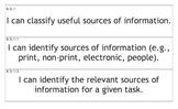 "K-5 Information & Technology Essential Standards ""I Can"" Cards (North Carolina)"