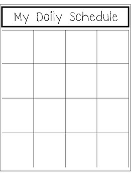 K-5 Interactive Daily Schedule Chart. Homeschool grades KDG-5th grade.