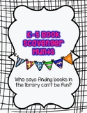 K-5 Library Book Scavenger Hunts