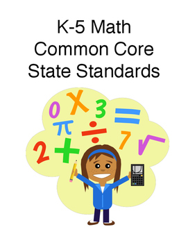 Math Common Core Standards K-5