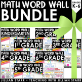 K-6 Math Word Wall Bundle (Common Core Aligned)