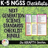 K-5 NGSS Checklists Bundle Next Generation Science Standards School Liscense