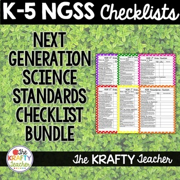 K-5 NGSS Checklists Bundle Next Generation Science Standar