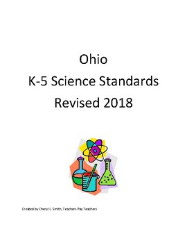 K-5 Ohio Science Standards - Revised 2018