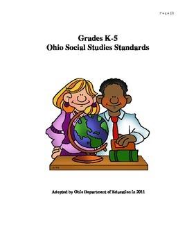 K- 5 Ohio Social Studies Standards
