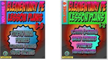 K-5 Physical Education Lesson Plans Volume 9 Bundle