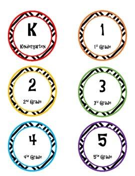 K-5 Printable Circle Labels