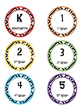 photograph about Printable Circle Labels named K-5 Printable Circle Labels