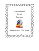 K-5 Recommended Book Lists for Parents