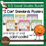 """K-5 Social Studies Standards Bundle """"I Can"""" Posters"""