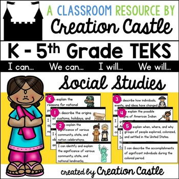 K-5 Social Studies TEKS - Can and Will Standards Statements