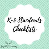 K-5 Standards Checklists
