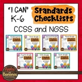 """K-6 Standards Checklists for All Subjects  - """"I Can"""""""