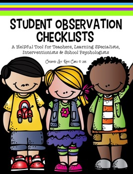 Student Observation Checklist Form [Pre K through Grade 5]